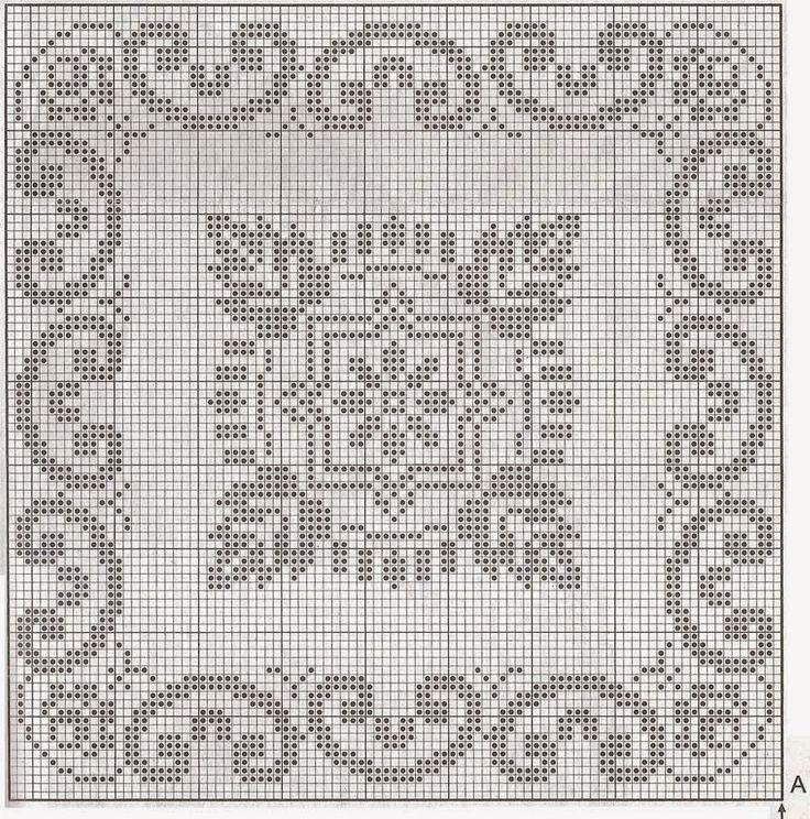 Schemi cuscini a Filet | Hobby lavori femminili - ricamo - uncinetto - maglia
