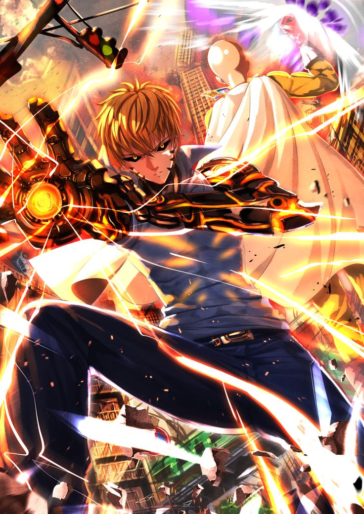 One Punch Man, Saitama (One Punch Man), Genos