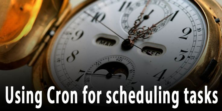 Using Cron for scheduling tasks Cron, also known as crontab (aka cron table) has a schedule formula for any minute of any day of the week, month and even any year in the future. It is perfect for scheduling repetitive tasks on for example the Raspberry Pi running Raspbian. This post will go through the basics and some tips on how to use Cron's functionality.  http://www.behind-the-scenes.co.za/using-cron-for-scheduling-tasks/