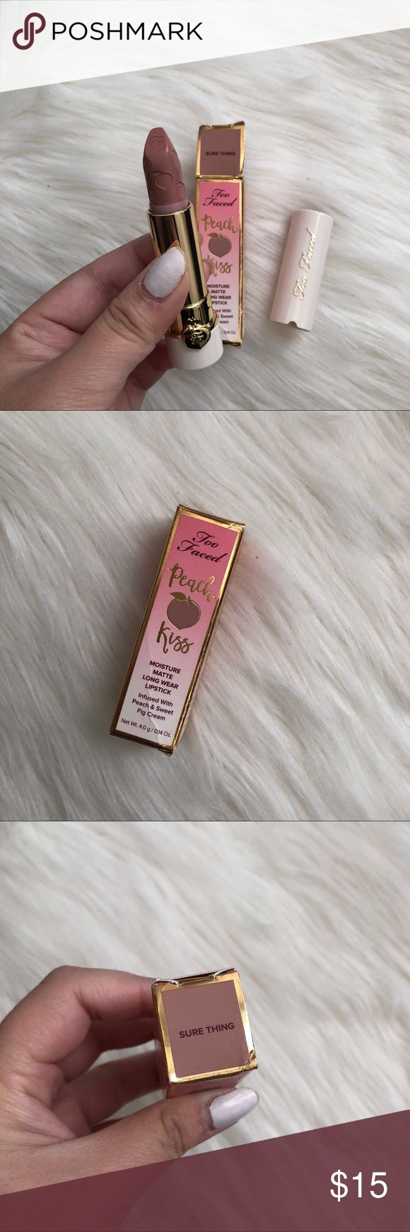 Too Faced Peach Kiss Lipstick Sure Thing NWT Too faced