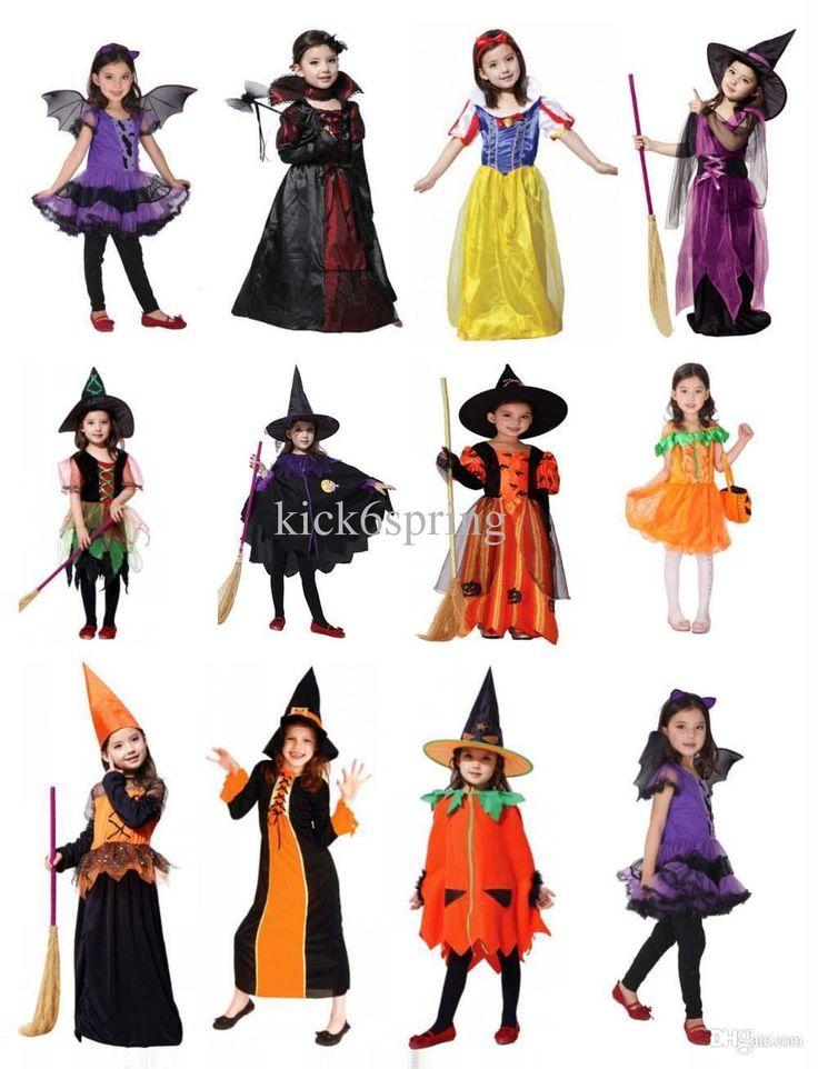 Naruto Cosplay Kids 2014 New Cute Vampire Costume Halloween Costume For Kids Girl Pumpkin Witch Dress Set Black Witches Hat Children School Cosplay Cosplay Costumes For Halloween From Kick6spring, $16.96| Dhgate.Com