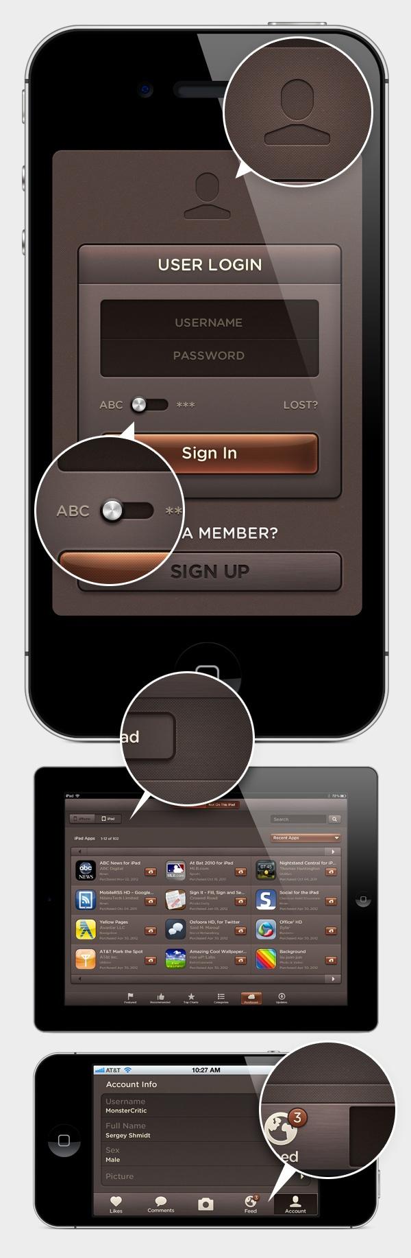 Dark Amber UI - Web User Interface Kit - DesignModo