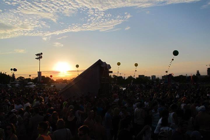 Beautiful Sunset @ Identity Festival Toronto