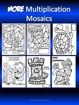 More Multiplication Mosaics! Fun Fact Practice Pages