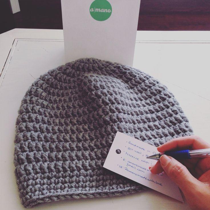 Handmade crochet hats. Made in Canada. amanomadewithlove@gmail.com