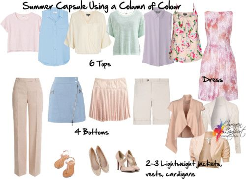 Creating a Summer Capsule Wardrobe Using a Column of Colour | Inside Out Style