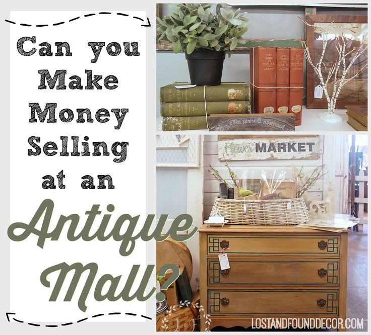 Can You Make Money Selling at an Antique Mall? My experience says yes! And I share 7 tips that have helped me turn a profit every month over my 4 years in the business.