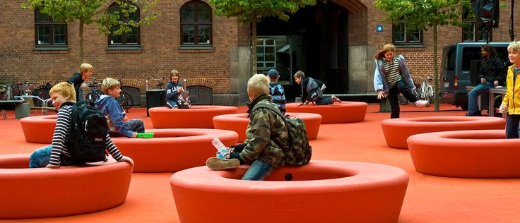 LOOP | a playful and informal urban element by out-sider, Denmark. LOOP is available in 12 colors. Made in rotation moulded polyethylene, sturdy, UV-resistant, and suitable for complete recycling.