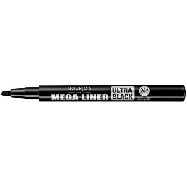 Bourjois Mega Liner ($10) ❤ liked on Polyvore featuring beauty products, makeup, eye makeup, eyeliner, liquid eye-liner, bourjois eyeliner, liquid eye liner, liquid eyeliner and bourjois