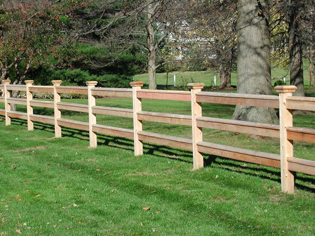 Split Rail Wood Fence I Like That The Ends Are Flush With
