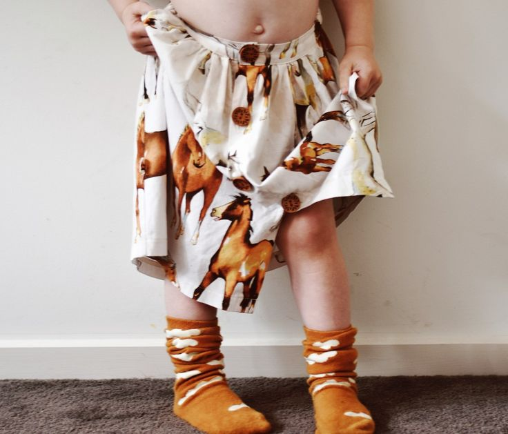 Winter Fall Autumn 2017 Girls Kids fashion styling horses horse print fabric horse lovers maxi dress skirt 2017 kids fashion trends www.desertislandbrand.com