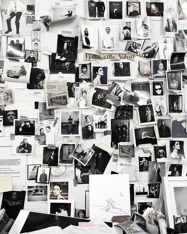 imperfect photowall in photographer @tobiasregell studio | @theresesennerholt instagram
