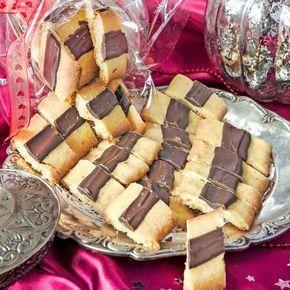 Läckra småkakor med smak av saffran och choklad.
