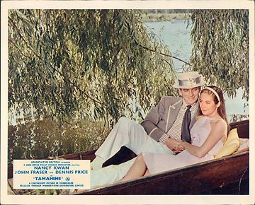 TAMAHINE NANCY KWAN JOHN FRASER LOBBY CARD ORIGINAL BOATING SCENE