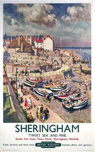 Sheringham, Norlfolk. Me encanta su costa, sus bosques, su sweetie shop, tomar fish&chips viendo bajar la marea...