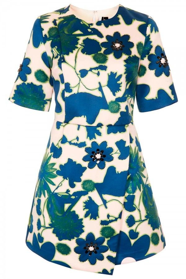 Topshop X-Ray Flower Embellished Shift Dress, £100 - New-Season Dresses: Shop 50…
