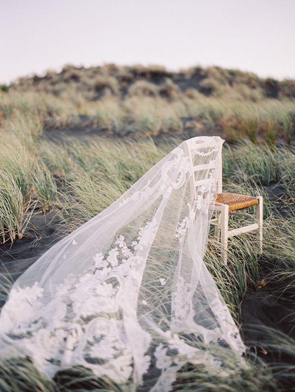 Rue De Seine Vintage Lace Wedding Veil | Erich McVey Photography | See More! http://heyweddinglady.com/ivory-embroidery-vintage-lace-wedding-inspiration/