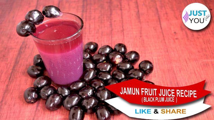 Jamun Fruit Juice Recipe    Black Plum juice recipes    Refreshing Summe...