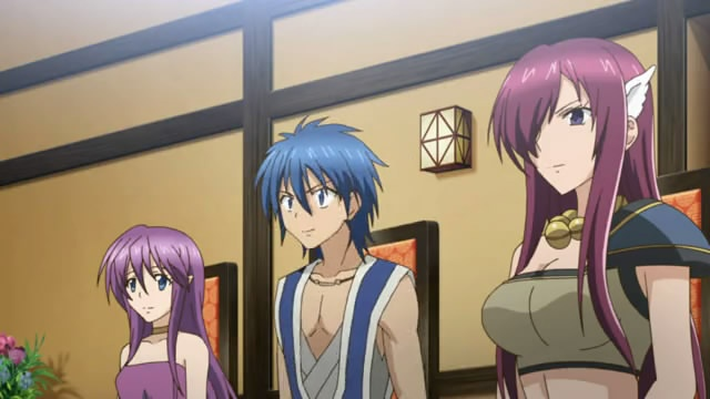 Aoi Sekai no Chuushin de episode 1 => Let me introduce, Nell, Gear and Opal. Strange name, aren't they?