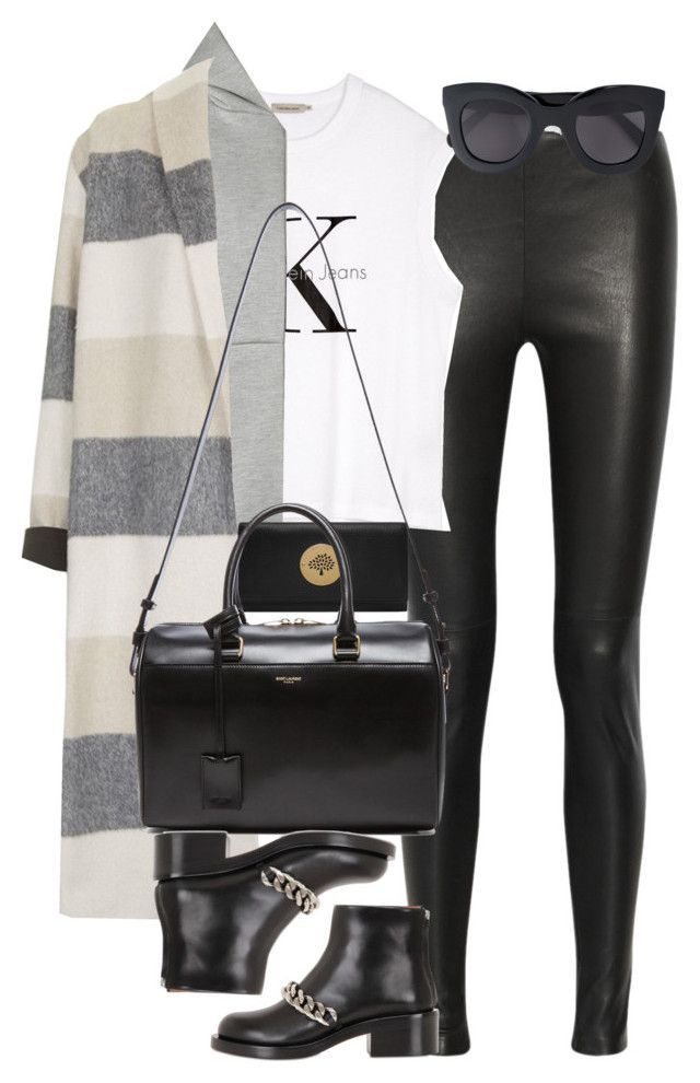 """Untitled #3654"" by lily-tubman ❤ liked on Polyvore featuring Balenciaga, Calvin Klein, T By Alexander Wang, Topshop, Givenchy, Mulberry, Yves Saint Laurent, CÉLINE, women's clothing and women's fashion"