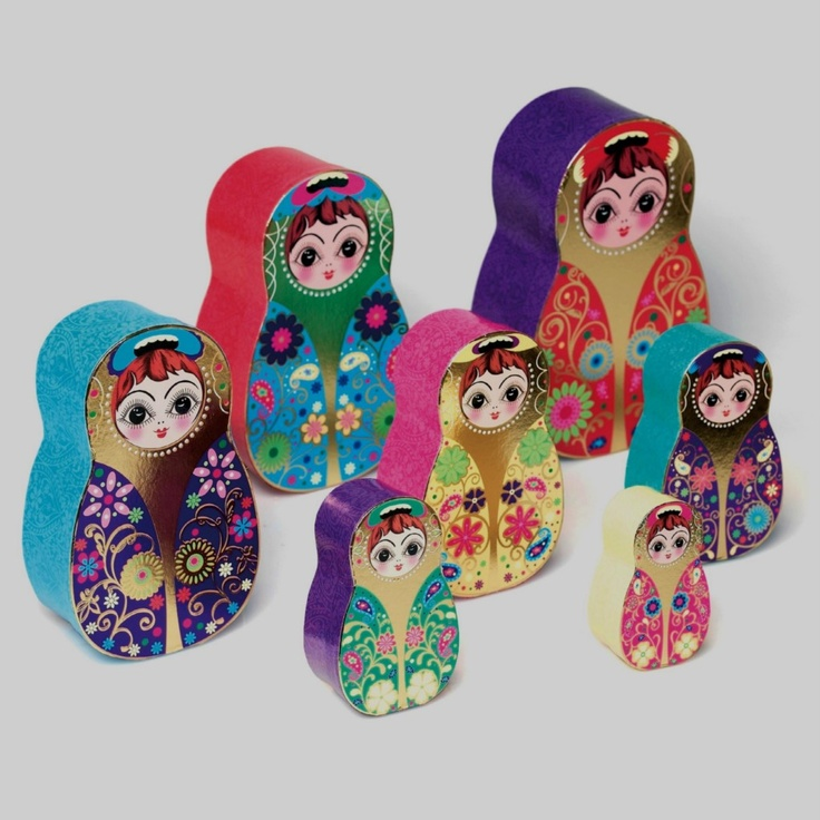 Russian Nesting Doll Decorative Storage Boxes
