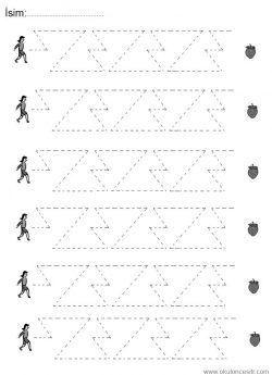 çizgi çalışma Sayfaları Line Worksheets Líneas De Trabajo