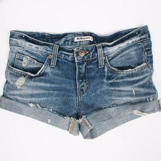 """Adventures in Dressmaking: This summer's DIY cut-off jeans shorts--Tutorial.  (Not totally sure why taking scissors to jeans needs a """"tutorial"""" but I dig the photo.)"""