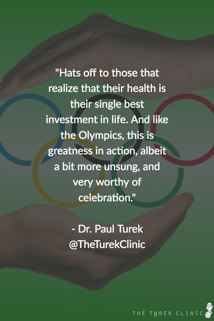 Dr. Turek on the everyday Olympians in our lives & how you can be one, too>  #menshealth #testicularimplant #stress #ed #vastectomyreversal #vasectomy #olympians #olympics #rio #rio2016 #ttc #dh