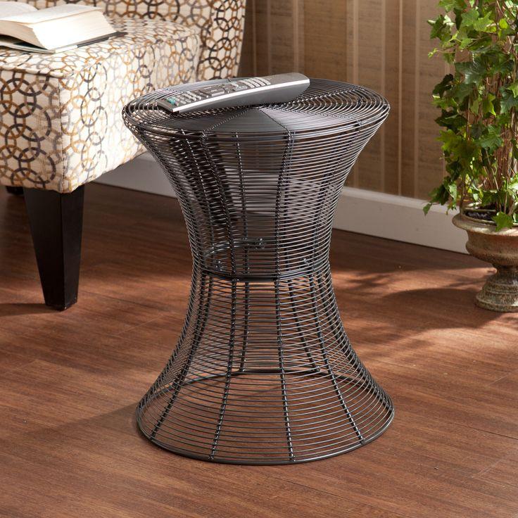Upton Home Kayden Indoor/ Outdoor Silver Metal Accent Table | Overstock.com  Shopping    Overstock Patio Furniture
