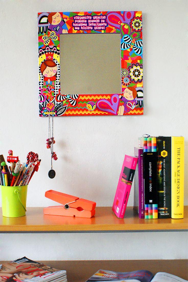 Un espejito que refleja pura belleza... #estilo #color #100% #mexicano #DistrollerJoum