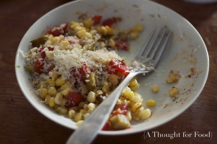 Roasted Corn with Manchego and Lime via A Thought For Food - www ...