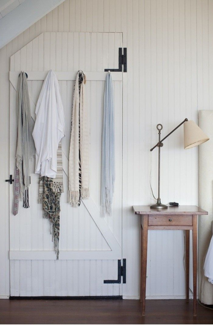 Beautiful, simple, rustic white bedroom @ The Brewsters in Little Compton, RI