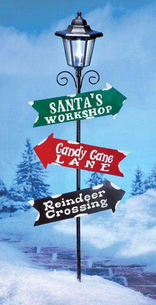 36 Quot H Santa S Workshop Candy Cane Lane Reindeer Crossing