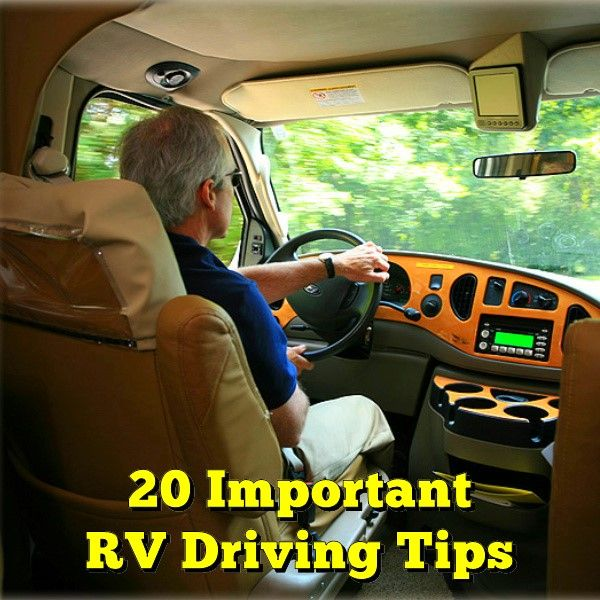 20 Important RV Driving Tips