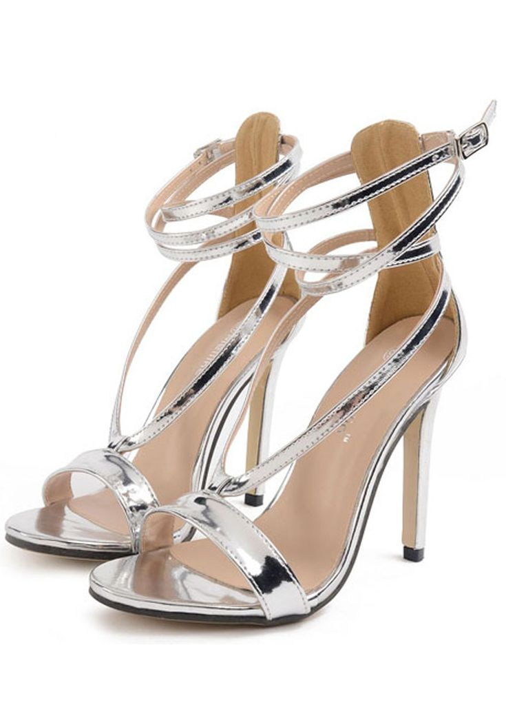 Sliver Lace Up High Heel Sandals _Women High Heels_Women Shoes_Sexy Lingeire | Cheap Plus Size Lingerie At Wholesale Price | Feelovely.com