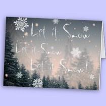 Let it snow cards by EarthSeaSky