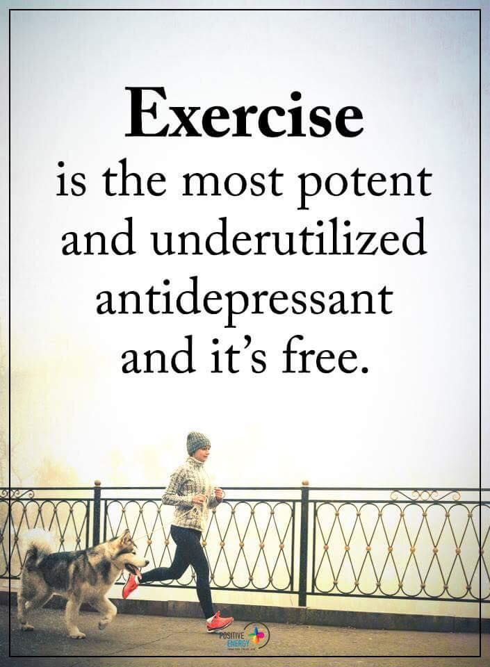 Life Lessons | Exercise is the most potent and underutilized antidepressant and it's free.