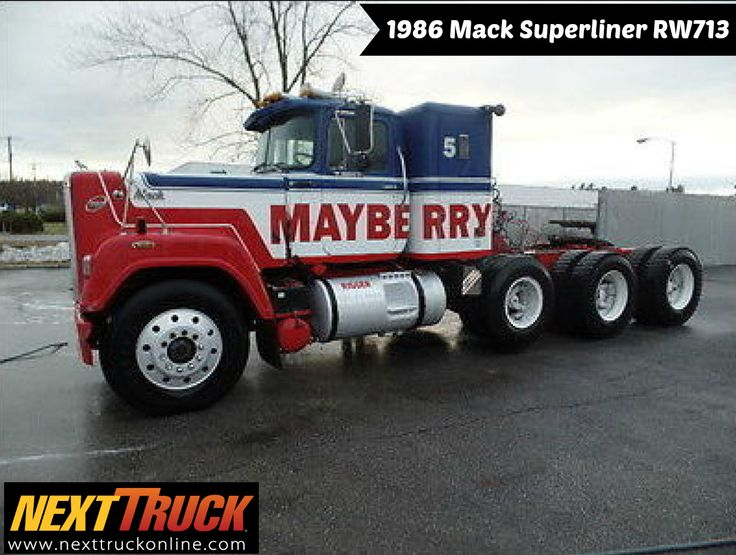 #ThrowbackThursday Check out this 1986 Mack Superliner RW713. View more #Mack #Trucks at http://www.nexttruckonline.com/trucks-for-sale/by-make/Mack #Trucking #NextTruck #tbt