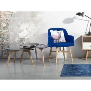Tables basses - lot de deux tables de salon - gris - Fly II