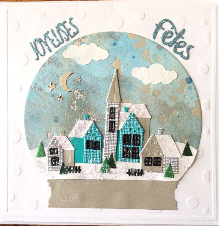 Carte de Noël, découpes Thinlits de  Tim Holtz- Nov 17