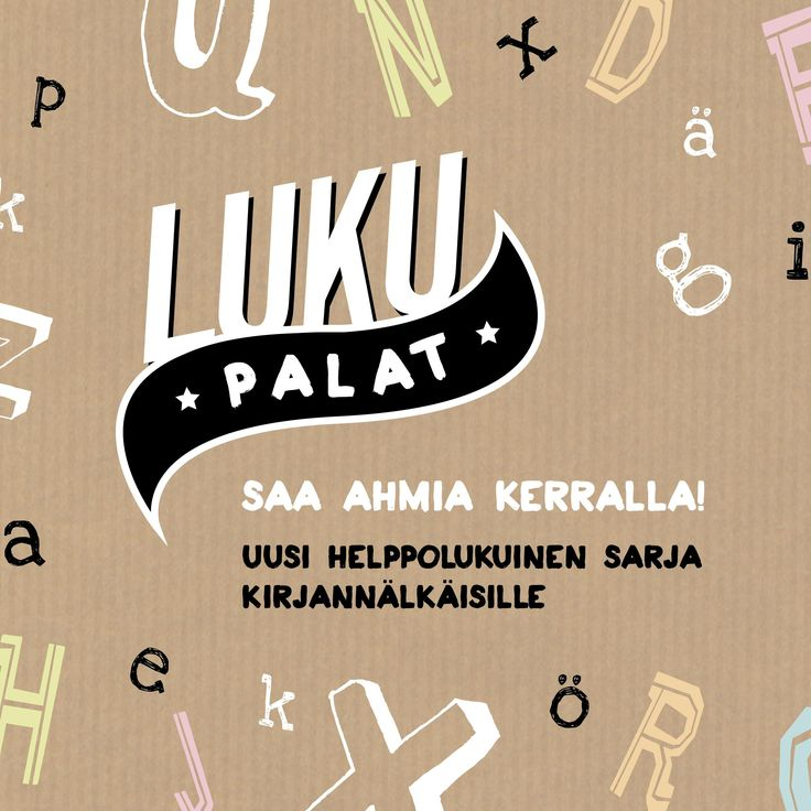 Lukupalat - series/brand identity for a new book series published by WSOY  Graphic design Riikka Turkulainen