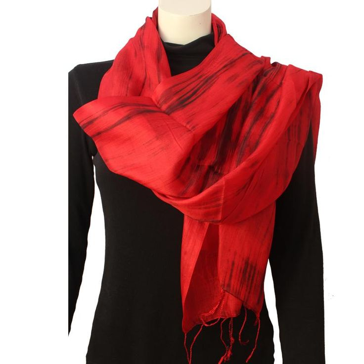 Silk Luxury Scarf red 2