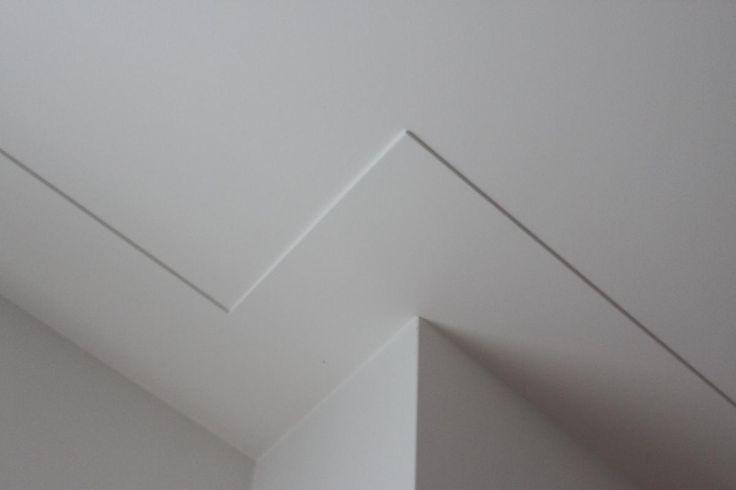 Platte of Amsterdamse Plint als afwerking van plafondrand.