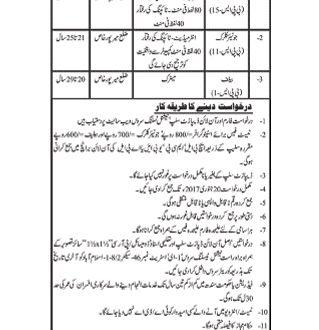 District Session Court Mirpur Khas NTS Jobs Application Form 2017