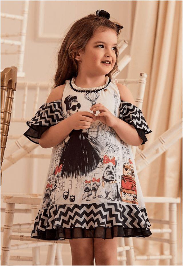 Vestido Anjo D'Agua Moda Infantil 173754 #modainfantil