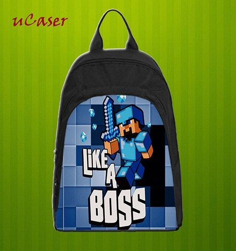 Casual backpack is made from oxford fabric. The front face is customizable with your own photos and designs. This backpack has a roomy main compartment with a fully lined interior that offers plenty