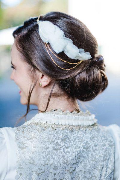 Haarschmuck & Kopfputz - Haarschmuck Krone Kranz Federn Gold - ein Designerstück von Kido-Design bei DaWanda