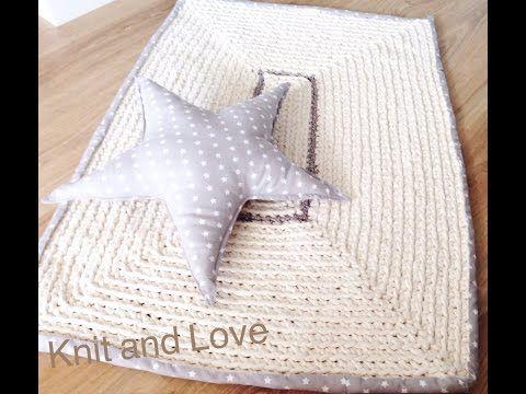 ALFOMBRA DE TRAPILLO RECTANGULAR CON RIBETE DE TELA / Knit and Love