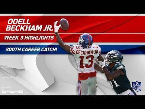Odell Beckham's 300th Career Catch & Ridiculous One-Handed TD Grab! | Can't-Miss Play | NFL Wk 3 - YouTube