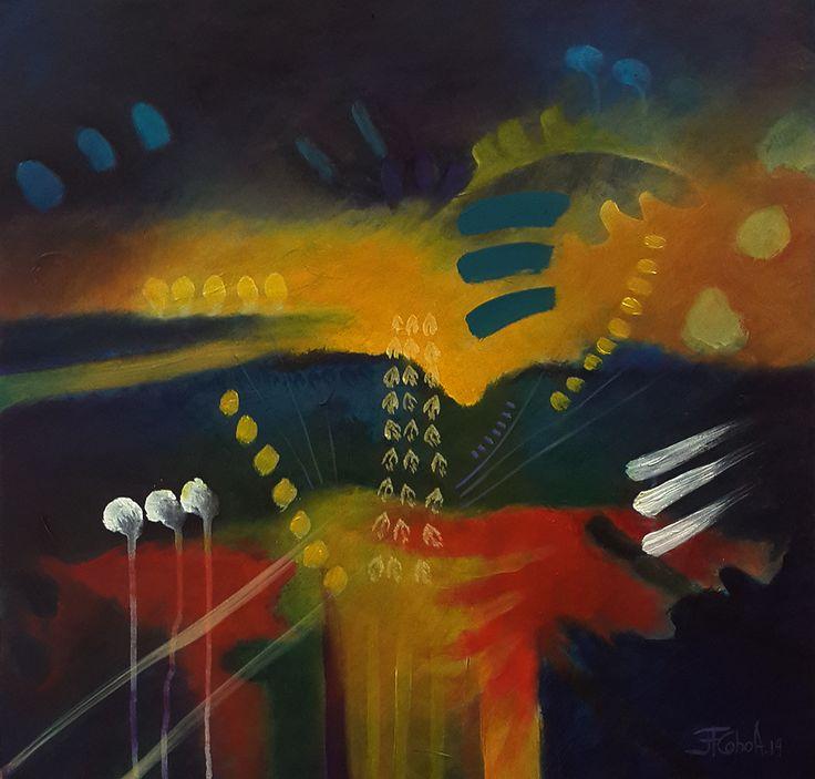 """JUAN FERNANDO COBO A. De la serie """"Bajo la Piel"""" 60 x 60 cm. Acrílicos sobre tabla 2014"""